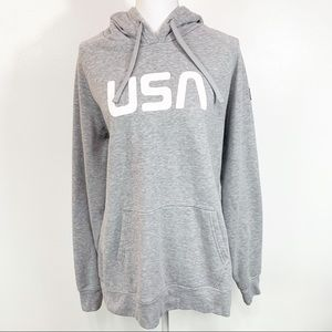 The North Face USA Gray Hoodie Extra Large